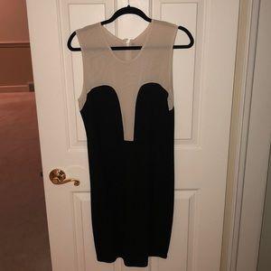 Alexander McQueen Black/Nude Cutout Dress Sz 46/10